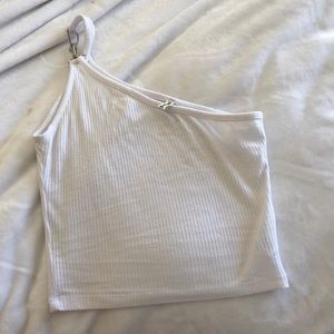 LF crop top one shoulder with hardware